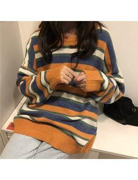 Happy Bird   Striped Sweater by Happy Bird