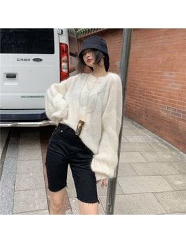 Tanee   Oversize Puff Sleeve Knit Top by Tanee