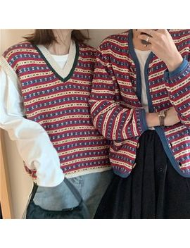 Tanee   Striped Knit Vest / Cardigan by Tanee