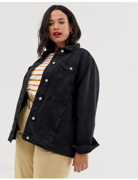 Brave Soul Plus Denim Oversized Boyfriend Jacket by Asos