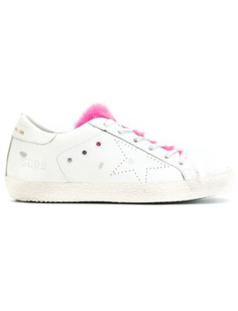 Fur Tongue Superstar Sneakers by Golden Goose