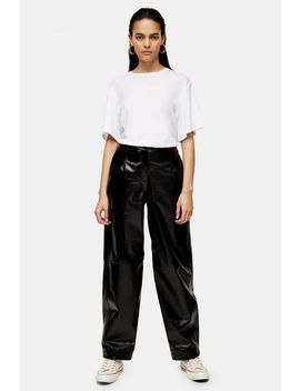 **Black Patent Leather Peg Trousers By Topshop Boutique by Topshop
