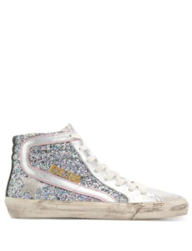 Slide Sparkle Sneakers by Golden Goose