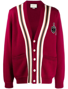 Wool Cardigan With Anchor Crest by Gucci