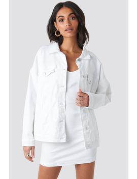 Oversized Denim Jacket Vit by Hossxnakd