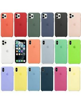 Genuine Original Silicone Case Cover For Apple I Phone 11 Pro Max Xs Max Xr 8 7 by Unbranded