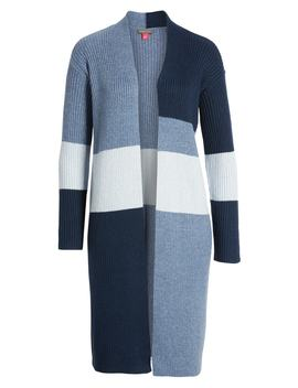 Colorblock Ribbed Cardigan by Vince Camuto
