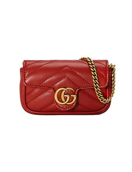 Gg Marmont 2.0 Leather Coin Case by Gucci