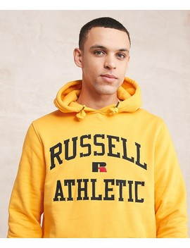 Monroe Arch Logo Hooded Top by Russell Athletic