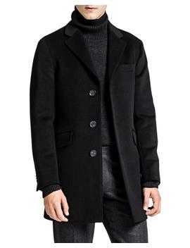 Saks Coat Black by Oscar Jacobson