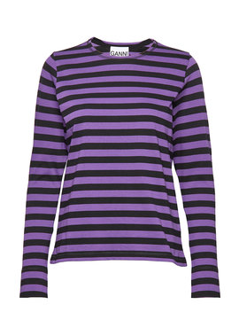 Striped Cotton Jersey by Ganni