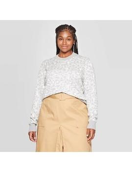 womens-plus-size-animal-print-long-sleeve-crewneck-pullover-sweater---ava-&-viv by ava-&-viv