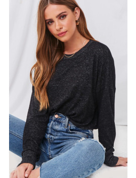 French Terry Long Sleeve Top by Forever 21