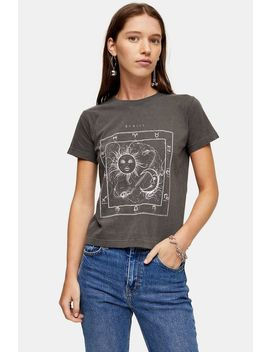 Charcoal Grey Etoile T Shirt by Topshop