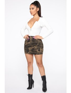 Army Brat Mini Camo Skirt   Olive/Combo by Fashion Nova