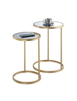 Convenience Concepts Gold Coast Mirrored Nesting End Tables by Convenience Concepts