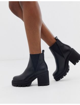 Truffle Collection Chunky Chelsea Boots In Black by Asos