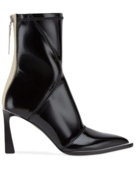 F Frame Structured Heel Ankle Boots by Fendi