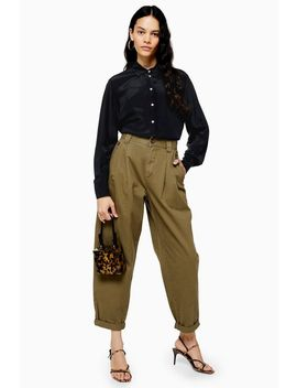 Casual Cotton Trousers by Topshop