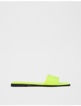 Asos Design – Fleeky – Pantoletten In Neongelb by Asos