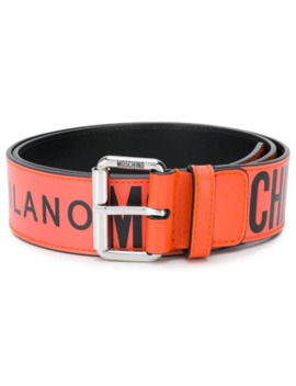 Cinturón Con Logo Estampado by Moschino