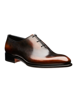 Whole Cut Leather Oxfords by Santoni Whole Cut Leather Oxfords