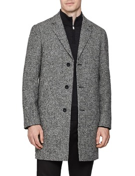 Kennard Regular Fit Houndstooth Overcoat by Reiss