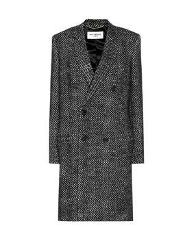 Wool Herringbone Coat by Saint Laurent