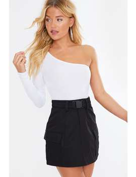 Black Utility Mini Skirt by In The Style