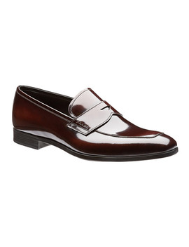 Spazzolato Leather Loafers by Prada Spazzolato Leather Loafers