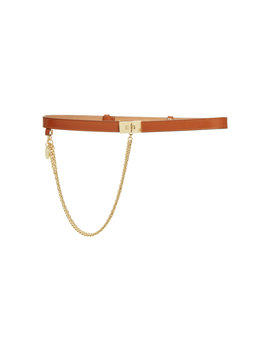 Chain Embellished Leather Belt by Givenchy