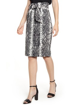 Paperbag Waist Pencil Skirt by Sentimental Ny