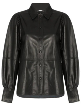Leather Shirt by Ganni