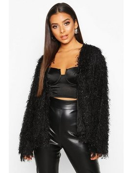 Feather Knit Cardigan by Boohoo