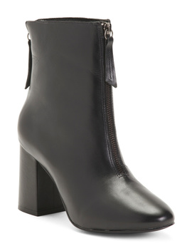 Front Zip Leather Booties by Tj Maxx