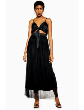 **Pleated Maxi Skirt By Lace & Beads by Topshop