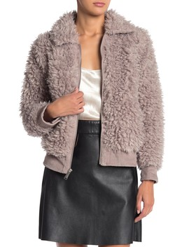 Zip Front Faux Fur Jacket by Bcb Generation