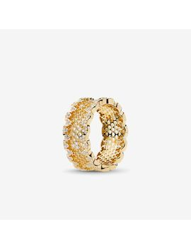 Honeycomb Lace Ring, Pandora Shine™ & Clear Cz by Pandora