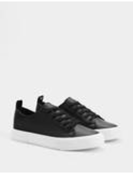 Black Lace Up Trainers by Bershka