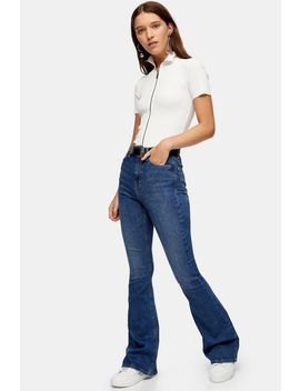 Mid Blue Jamie Flare Jeans by Topshop