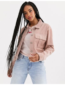Pull&Amp;Bear Cord Jacket In Pink by Pull&Bear