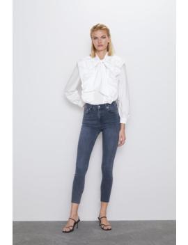 Zw Premium High Waist Skinny Arctic Cobalt Jeans Skinny Jeans Woman by Zara