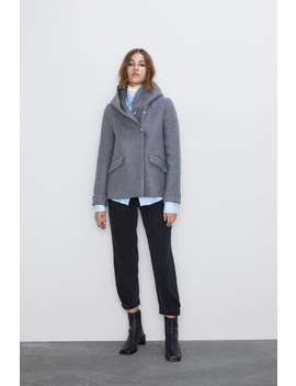 Wraparound Collar Coat View All Coats Woman by Zara