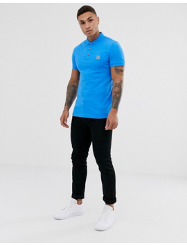 Boss Passenger Slim Fit Pique Polo In Bright Blue by Boss