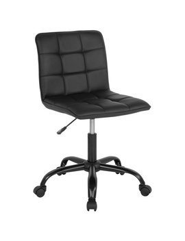 Flash Furniture Sorrento Home And Office Task Chair In Black Leather by Flash Furniture