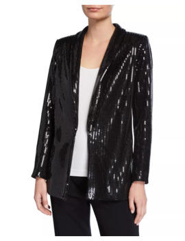 Plus Size Sequined Jacket by Joan Vass