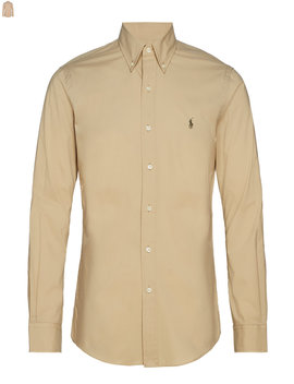 Slim Fit Gingham Cotton Shirt by Polo Ralph Lauren