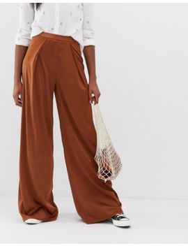 Glamorous Tall Wide Leg Pants In Satin by Glamorous