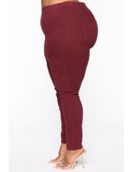 Say Something Skinny Pants   Burgundy by Fashion Nova