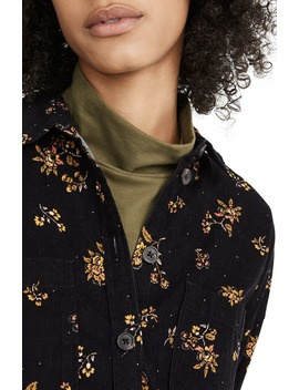 Fall Floral Corduroy Shirt Jacket by Madewell